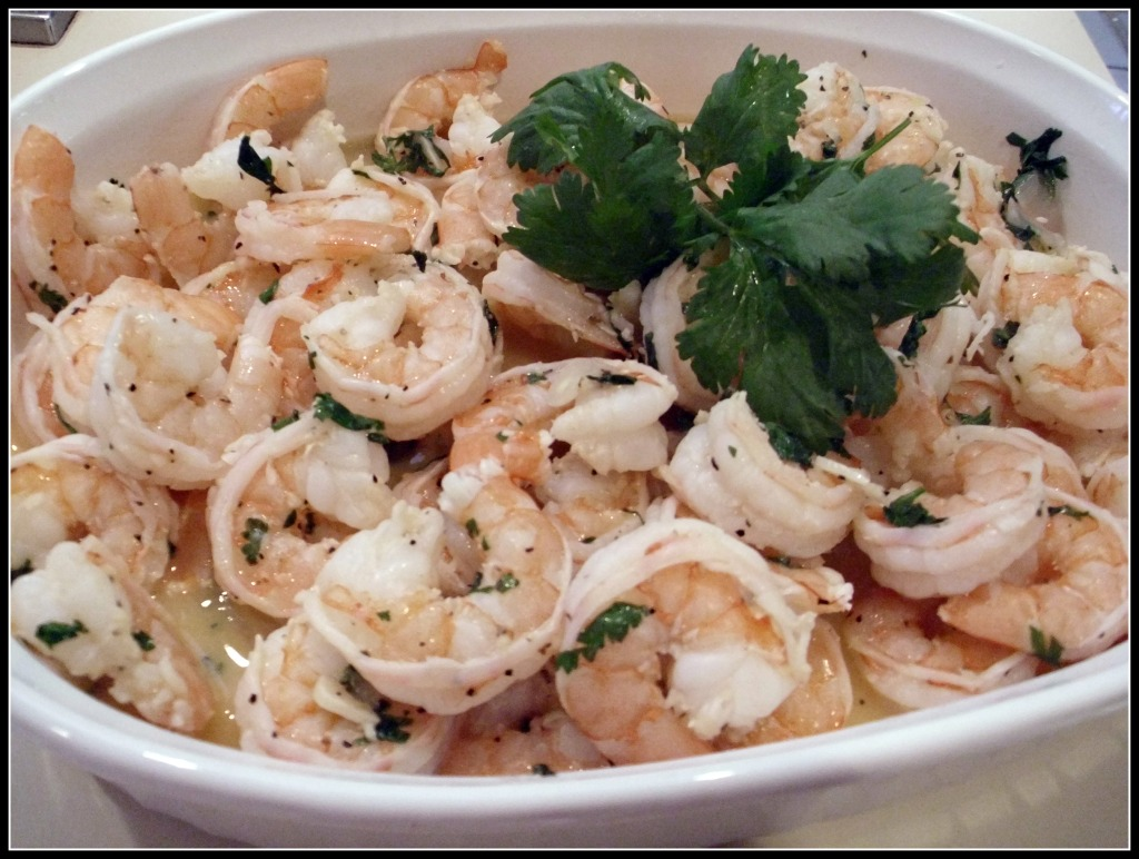 Creative Cooking with Cilantro:  Day 1 - Cilantro Lime Shrimp