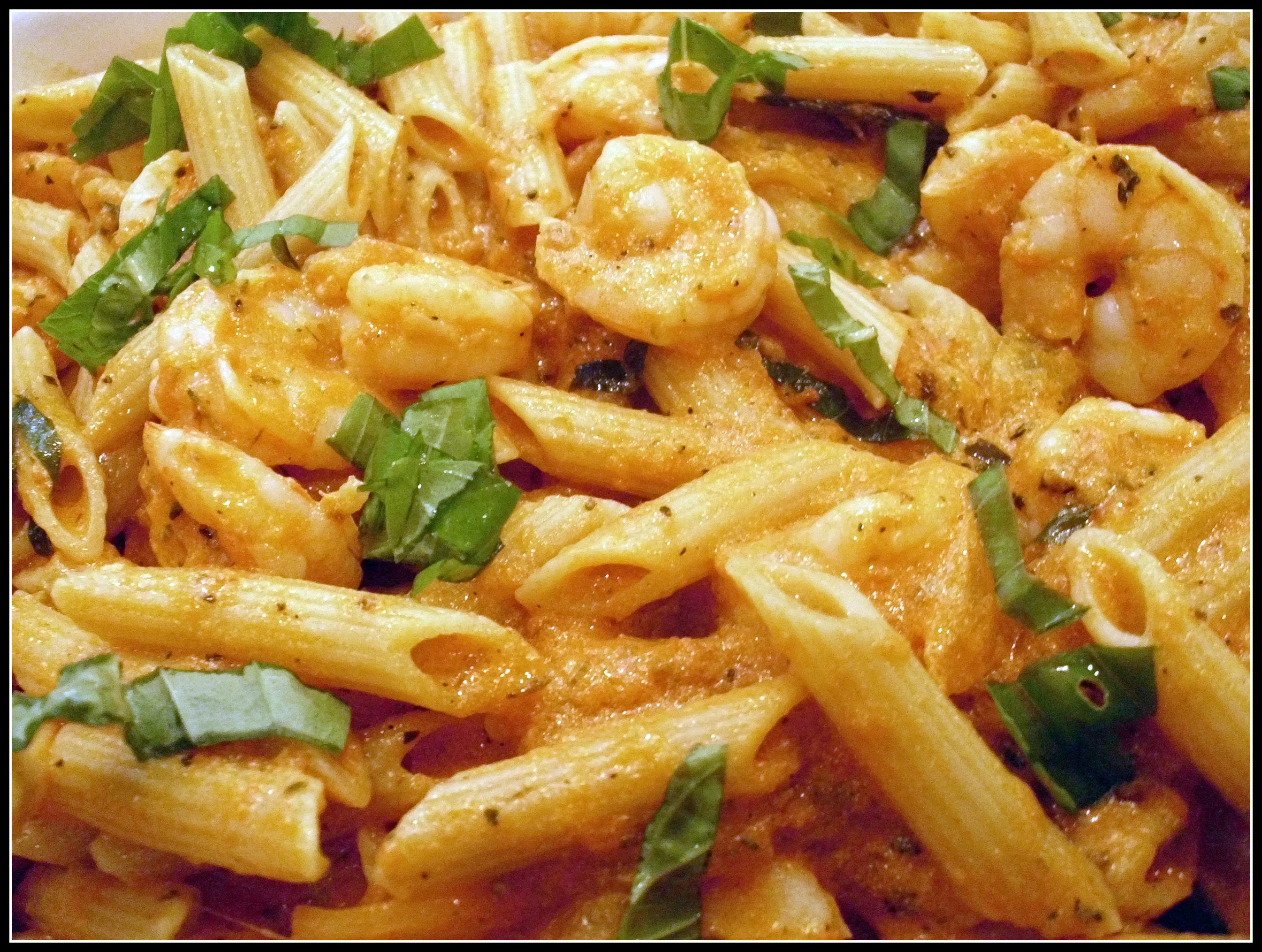 Versatile vanilla shrimp penne with vanilla bean vodka What to make with shrimp for dinner