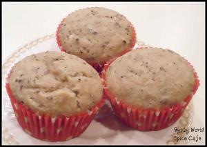 Caribbean Cocoa Bean Muffins