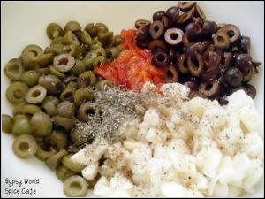 Mediterranean Bruschetta Preparation