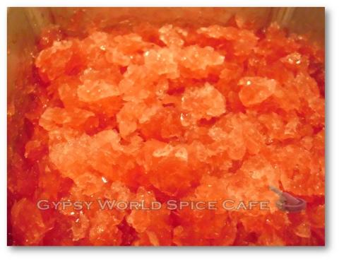 Spiced Hibiscus Tea Granita - Ready to Serve